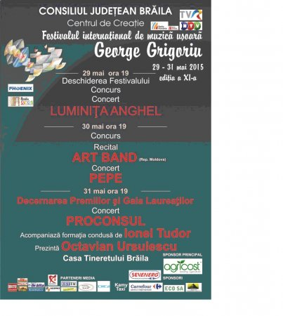 "Sponsorizare BRAICOOP - Festivalul International  ""George Grigoriu"""